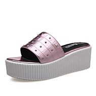 Women's Shoes Platform Platform / Creepers Clogs & Mules Dress / Casual Purple / Silver