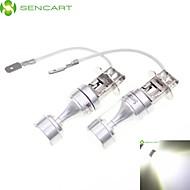 SENCART 2xH3 PK22S 50W White Yellow Red 8xCREE-LED  Fog Light Headlight Lamp Bulb 12-24V
