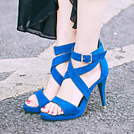 Women's Shoes  Stiletto Heel Platform / Gladiator / Open Toe Sandals Party & Evening / Dress / Casual Blue / Red / Gray