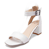 Women's Shoes Chunky Heel Open Toe Sandals Dress White / Silver / Gold