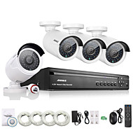 Annke® 4CH HD 1.3 MP 960P NVR POE Security IP Camera Kit System Home Network Outdoor Cctv System