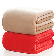 150*200cm Solid Color Flannel Fleece Blankets