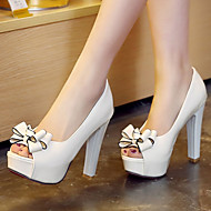 Women's Shoes Heel Heels / Peep Toe / Platform Sandals / Heels Outdoor / Dress / Casual Black / Red / White