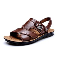 Men's Shoes Amir 2016 New Style Hot Sale Outdoor / Casual Comfort Leather Beach Sandals Brown / Black / Orange