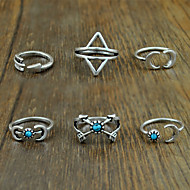 Women's Alloy Ring Turquoise Alloy 6 Pieces