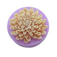 chryzantéma květiny mýdlo plísně fondant dort čokoláda Silikonová forma, dekorace nástroje bakeware