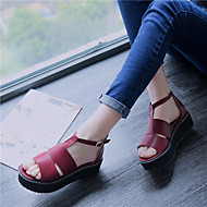 Women's Shoes  Platform Platform / T-Strap / Creepers Sandals Outdoor / Dress / Casual Black / Red / White
