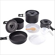 OEM סגסוגת אלומיניום סט כלי מטבח אפור סטים Camping