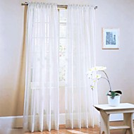 W100cm*L200cm,One Panel Rod pocket Multicolour Polyester Sheer Curtains Shades