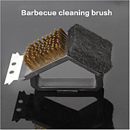 Cleaning Tools Barbecue Grill Cleaning Brush Tools 3 in 1 to Burn Oven