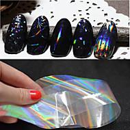 6pcs New Transparent Nail Art Foils 4cmX100cm Starry Sky Glitter Nail Transfer Sticker Paper Manicure Nail Tools