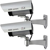 KingNEO 2pcs Outdoor Fake/Dummy Camera for Security Waterproof CCTV Surveillance