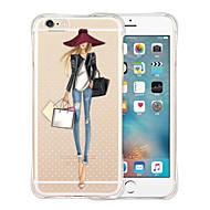 favoritos da rainha parte traseira do silicone caso macio transparente para iphone 6s 6 mais