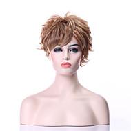 שיער הפאות הסינתטי אופנה איכותית של האישה פאה קצרה מתולתלת בלונדינית
