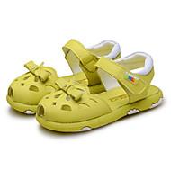 Para Meninas-Sandálias-Conforto Menina Flor Shoes-Rasteiro-Amarelo Rosa Branco-Couro-Casamento Ar-Livre Social Casual Festas & Noite