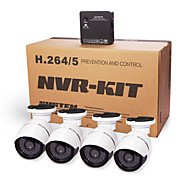 cotier®4ch nvr kits p2p cloud NVR 720p / 960p / 1080p / H.264 / waterdicht / hd / kogel ip camera n4b-mini