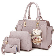 Women PU Casual / Outdoor Shoulder Bag / Tote / Bag Sets White / Purple / Blue / Red / Gray