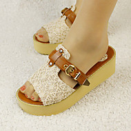 Women's Shoes Wedges / Heels / Peep Toe / Platform Sandals / Heels / Clogs & Mules Outdoor / Dress / CasualBlack /F16