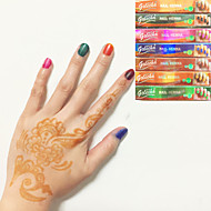 Halloween 6X BLACK COLOR HENNA HERBAL CONES Temporary Tattoo Kit Body Art Mehandi Ink