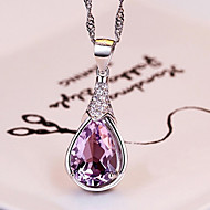 Necklace Pendant Necklaces Jewelry Party Birthstones Alloy Silver 1pc Gift