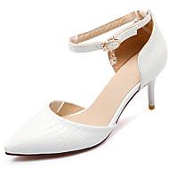 סנדלים-נשים-נעלי חתונה-שפיץ-חתונה / שמלה / מסיבה וערב-שחור / אדום / לבן
