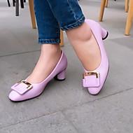 Women's Shoes Leatherette Chunky Heel Heels Heels Wedding / Office & Career / Party & Evening Pink / Purple / Beige