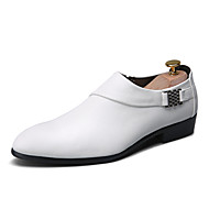 Men's Shoes Outdoor / Office & Career / Casual Leather Loafers Black / White