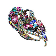 Rainbow Color Gemstone & Crystal Brooch for Women Mother's Day Wedding Party Gift