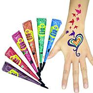 Halloween de color golecha henna cono de pasta de tinta de tatuaje temporal jagua arte del cuerpo kit mehandi
