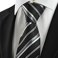 Pruhy-Kravata(Černá / Stříbrná,Polyester)