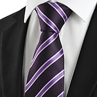 New Striped Purple Black Formal Men Tie Necktie Wedding Party Holiday Gift #1017