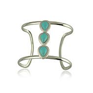 Women's Cuff Bracelet Alloy Turquoise