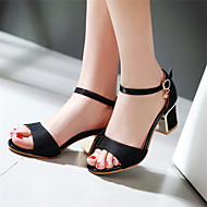 Women's Shoes  Chunky Heel Open Toe Sandals Outdoor / Dress / Casual Black / Red / Beige