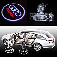 2st ledde bildörr skugga projektorlampan välkommen ljus laser emblem logo lampor för Audi A1 a3 a4 a5 a6 A6L tt r8