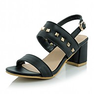 Women's Shoes Leatherette Chunky Heel Peep Toe Sandals Wedding / Office & Career / Party & Evening