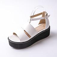 נעלי נשים-סנדלים-דמוי עור-פלטפורמה / רצועת T / קריפרס-שחור / אדום / לבן-שטח / שמלה / קז'ואל-פלטפורמה