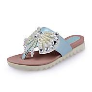 Women's Shoes Flat Heel Comfort Flip-Flops Dress / Casual Blue / Pink / White