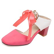 Women's Shoes Chiffon Chunky Heel Ankle Strap / Square Toe Sandals Party & Evening / Dress / Casual