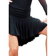Latinotanssi Hameet Naisten Kouluts Viskoosi Musta / Purppura Latinalainen tanssi / Tanssisali Kevät, Syksy, Talvi, Kesä Luonnollinen
