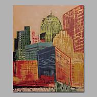 Ručně malované Abstraktní / Krajina / Abstraktní krajinkaStyl / Moderní / evropský styl Jeden panel Plátno Hang-malované olejomalba For