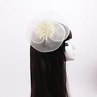Dame / Blomsterpige Imiteret Perle / Organza / Stof Medaljon-Bryllup / Speciel Lejlighed / Afslappet Betagere 1 Stykke