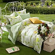 100% bomuld mønster sengetøj serie 4 stykke dynebetræk sæt, queen size