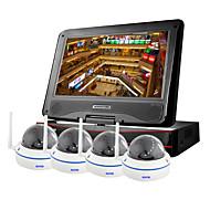 """szsinocam®4ch 720p 1.0MP WiFi NVR-Kits, mit 10,1 """"LED, Metall-Kuppel, keine Notwendigkeit zu setzen, können Sie das Bild, unterstützen"""