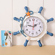 Wooden Wall Clock Retro Fashion Wall Clock Alarm Clock The Mediterranean-style Home Decoration