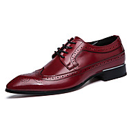 Men's Carved Leather Shoes Classic British Style Dress Pointed Shoes Men's Business Shoes