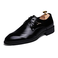 Men's Shoes Wedding / Office & Career / Party & Evening / Dress / Casual Synthetic Oxfords Black