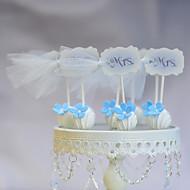 Figurine(Weiß / Blau,Kartonpapier) -Nicht-personalisierte-Hochzeit / Jubliläum / Geburtstag