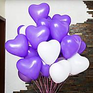 12 hüvelyk esküvői dekoráció, szív alakú léggömb 200db / set