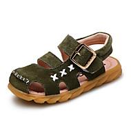 Sandaler-Læder-Komfort-Drenge-Gul Grøn Grå-Udendørs Fritid