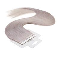 neitsi 100% nauhan hiuksista kude pidennys suorat iho kude hiukset 16 tuuman
